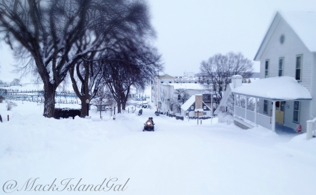 A view down Fort St... the same place where I went sledding on my birthday last year!