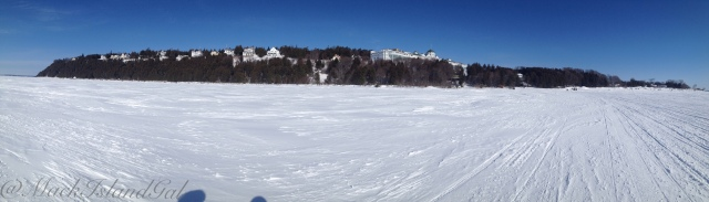 mackinac island ice bridge panorama