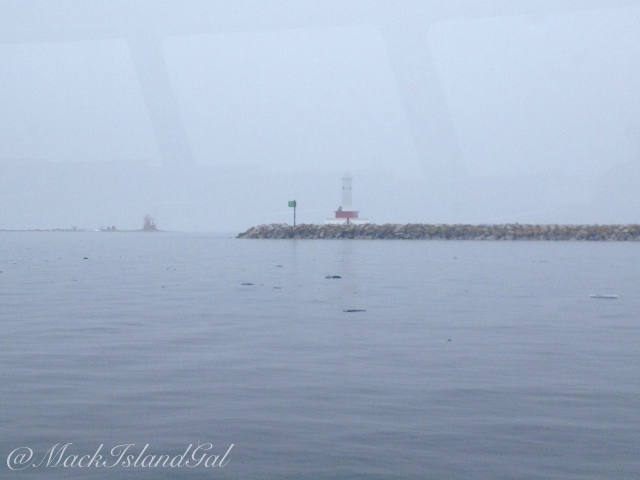 Lighthouses in the foggy distance